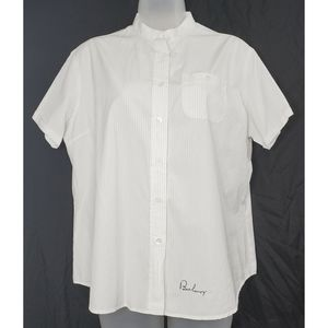 Burberry London Pinstripe Embroidered Top